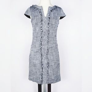 Karl Lagerfeld NWOT navy/ white tweed dress, sz 2
